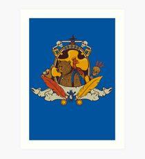 Bear & Bird Crest Art Print