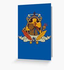 Bear & Bird Crest Greeting Card