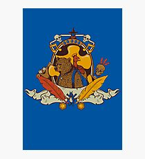Bear & Bird Crest Photographic Print