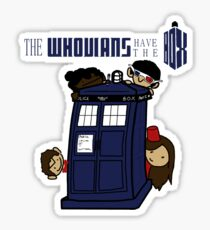 The Whovians Have the Box! Sticker