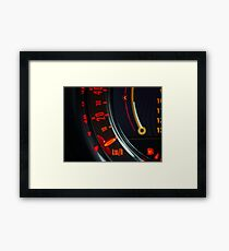 Elegant speed control dashboard by modern sport car Framed Print