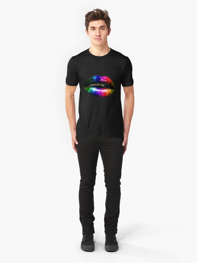 """Alternate view of """"Zips and Lips"""" - Clothing Slim Fit T-Shirt"""