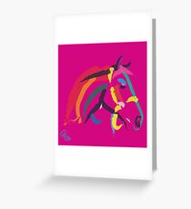 Horse- Colour me strong Greeting Card