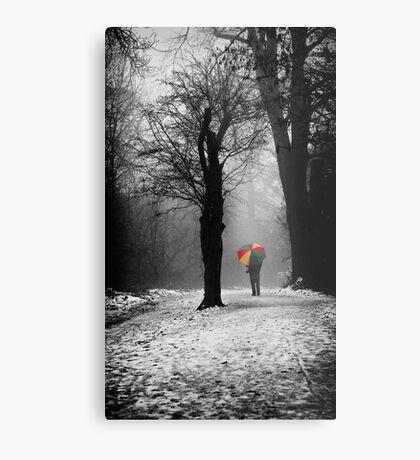 A Lonely Winters Walk Metal Print