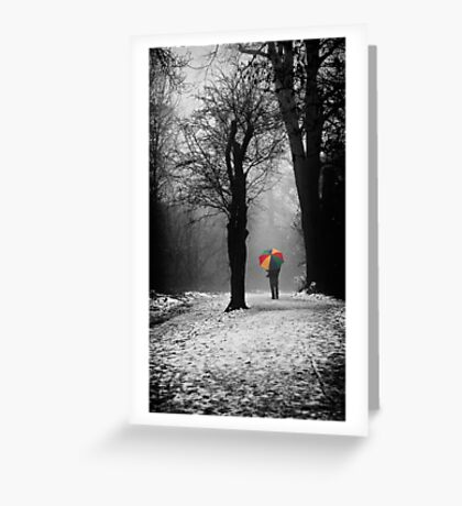 A Lonely Winters Walk Greeting Card