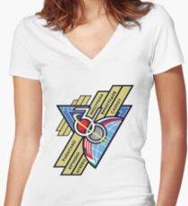 Expedition 36 Mission Patch Women's Fitted V-Neck T-Shirt