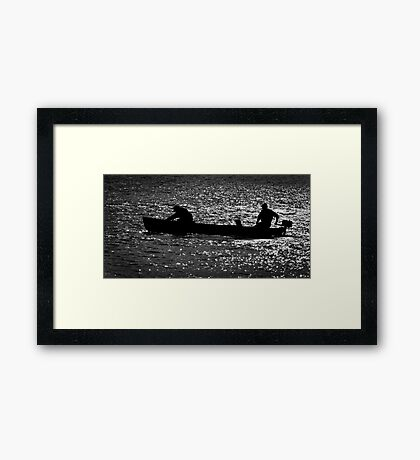 Evening on the Lake Framed Print