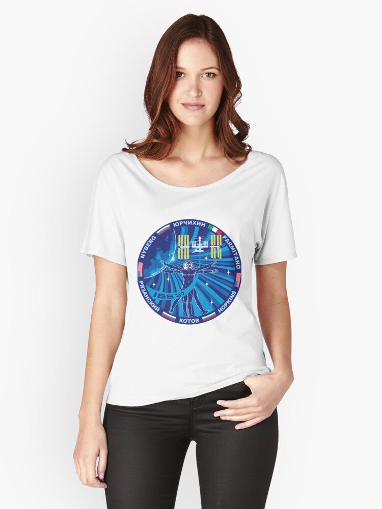 Expedition 37 Mission Patch Women's Relaxed Fit T-Shirt Front