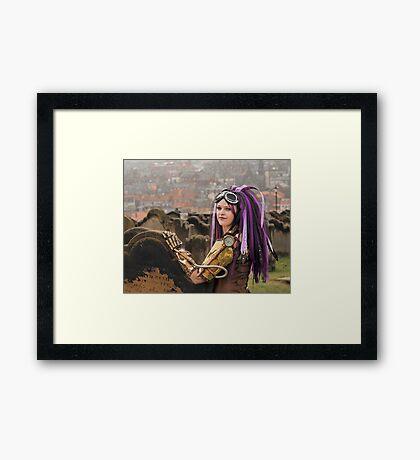 Purple Hair Framed Print