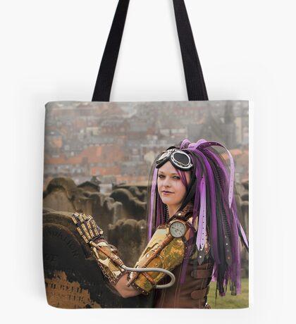 Purple Hair Tote Bag