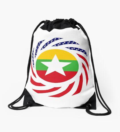 Myanmar American Multinational Patriot Flag Series Drawstring Bag