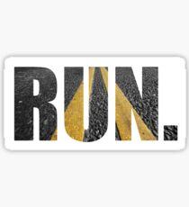 RUN. Sticker