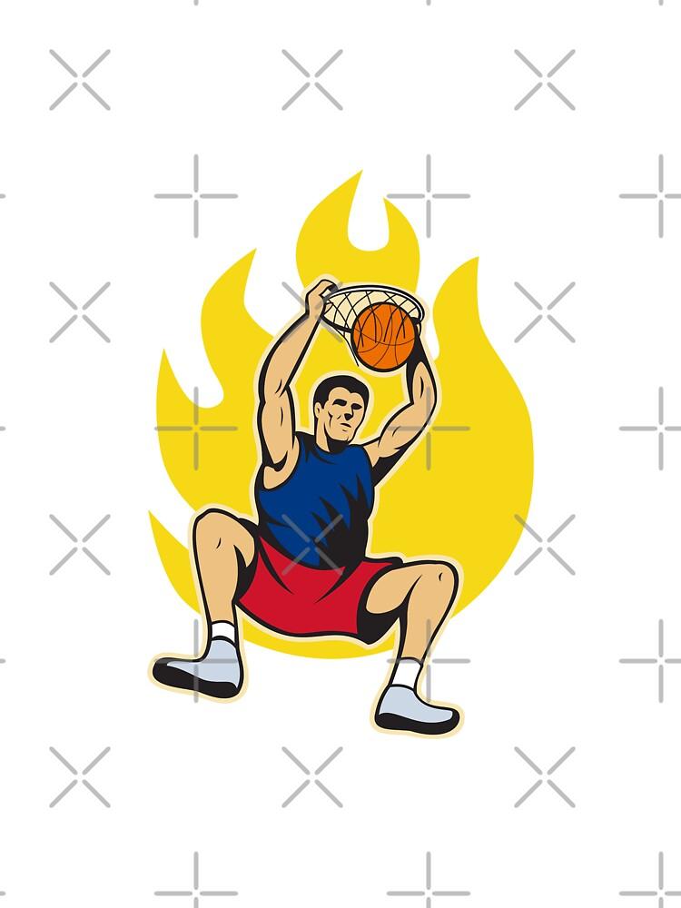 Basketball Player Dunking Ball by patrimonio