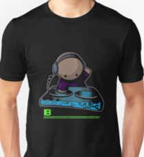 SIMPLE-CARTOON-DJ-GUY - JULY 2012 MERCH - CRUNKECOWEAR.NET BEGREENRECORDS.NET Unisex T-Shirt