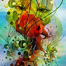 Abstract Digital Art- Dynamic Shapes And Lines by artonwear