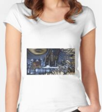 WINDY IN THE CITY Women's Fitted Scoop T-Shirt