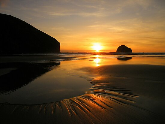 Cornwall: Patterns in the Sunset by Robert Parsons