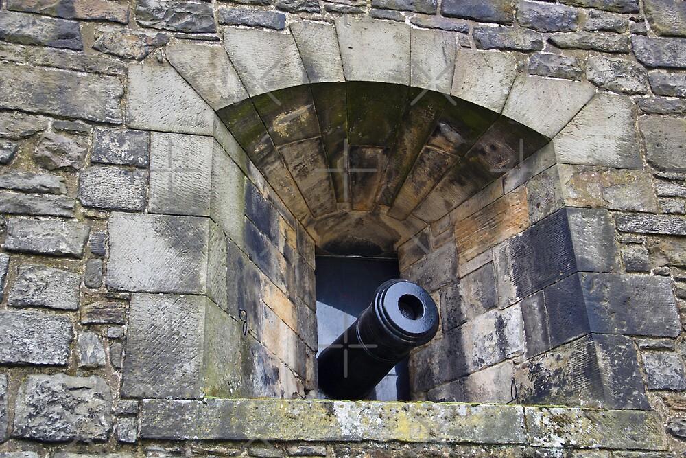 A canon projecting from Edinburgh Castle by ashishagarwal74