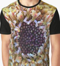 Macro Yellow Flower Center Graphic T-Shirt