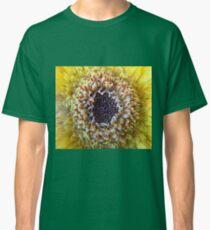 Macro Yellow Flower Center Classic T-Shirt