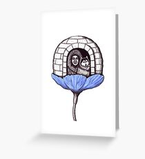 Northern Flower pen ink drawing Greeting Card