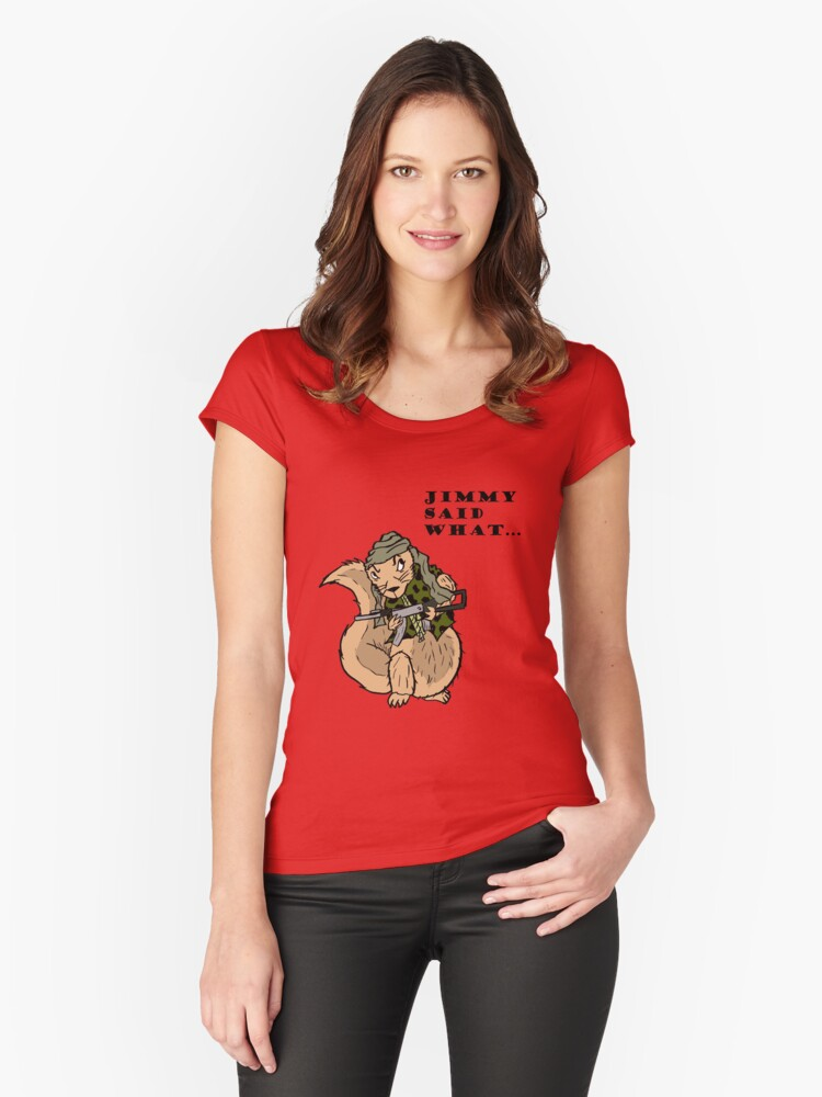 Little Jimmy Women's Fitted Scoop T-Shirt Front