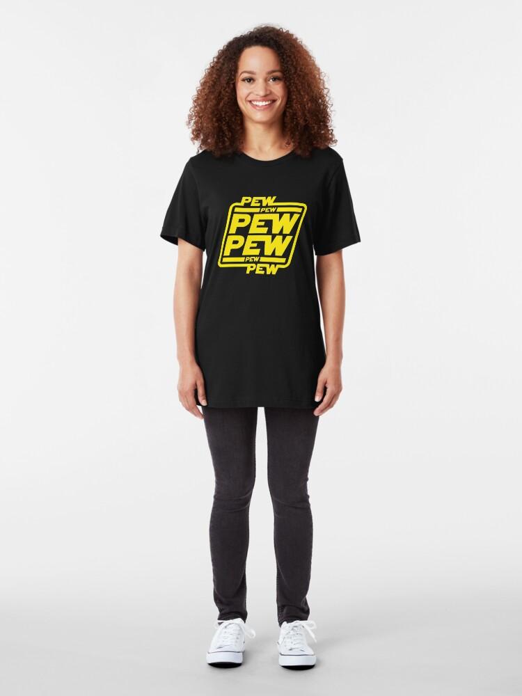 Alternate view of Pew pew pew Slim Fit T-Shirt