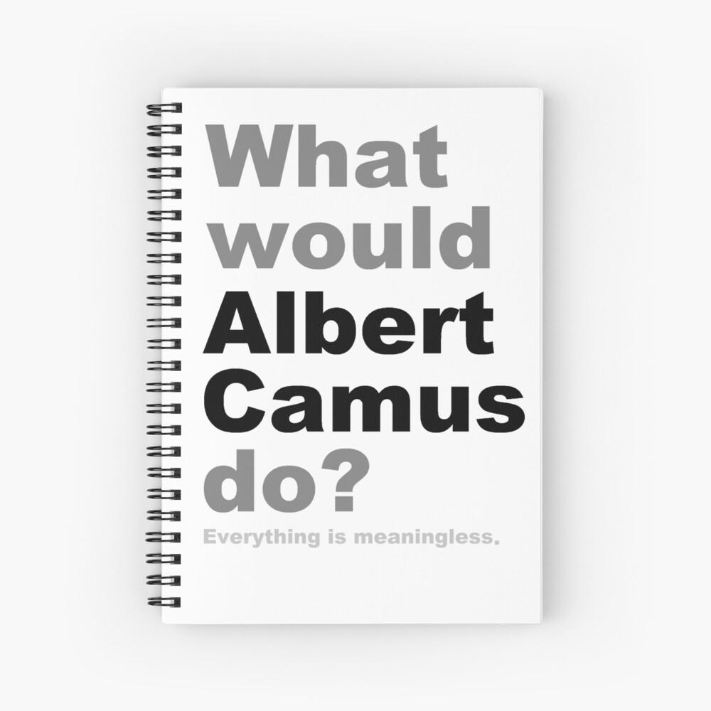 ¿Qué haría Albert Camus? 2 (blanco) Cuaderno de espiral