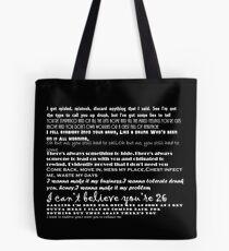 Catfish&the bottlemen lyrics Tote Bag