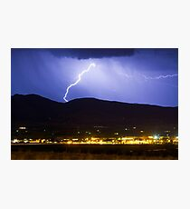 Lightning Striking Over IBM Boulder Photographic Print