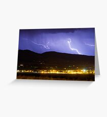 Lightning Striking Over IBM Boulder 2 Greeting Card