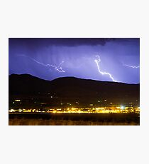 Lightning Striking Over IBM Boulder 2 Photographic Print