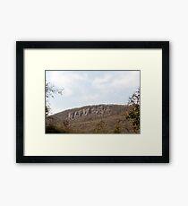 Sariska nature - a weathered hill Framed Print