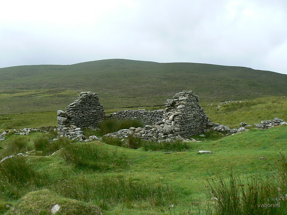 stone ruins on Achill Island by valjones
