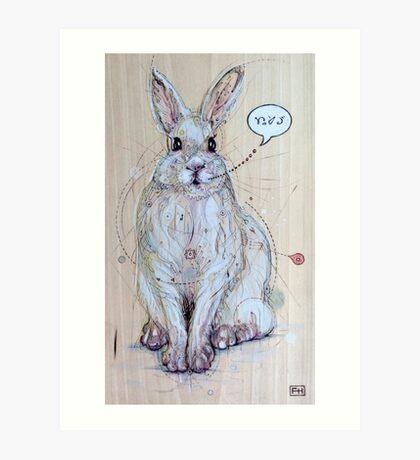 Snow Bunny Art Print
