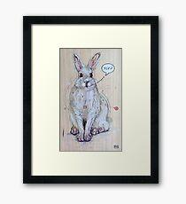 Snow Bunny Framed Print