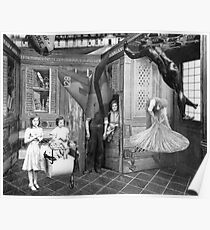The servants Quarters (Two Girls with Pram). Poster