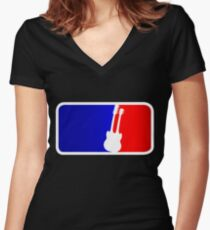 Double Neck League Women's Fitted V-Neck T-Shirt