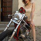 biker's wedding (the bride) by bertipictures