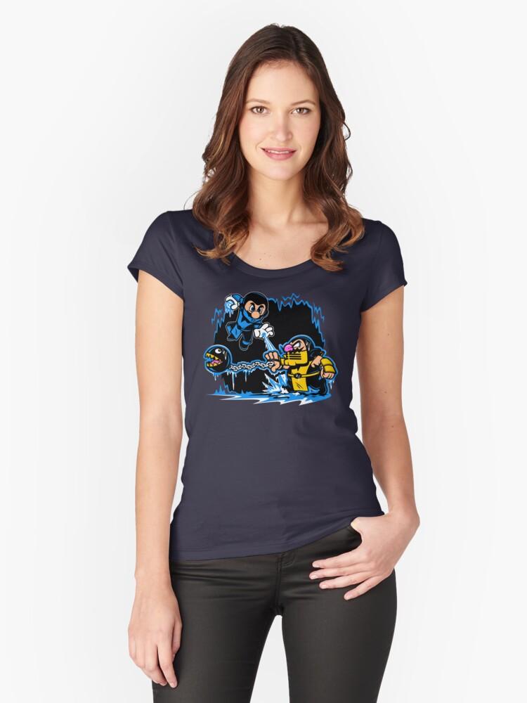 Mario Kombat Women's Fitted Scoop T-Shirt Front