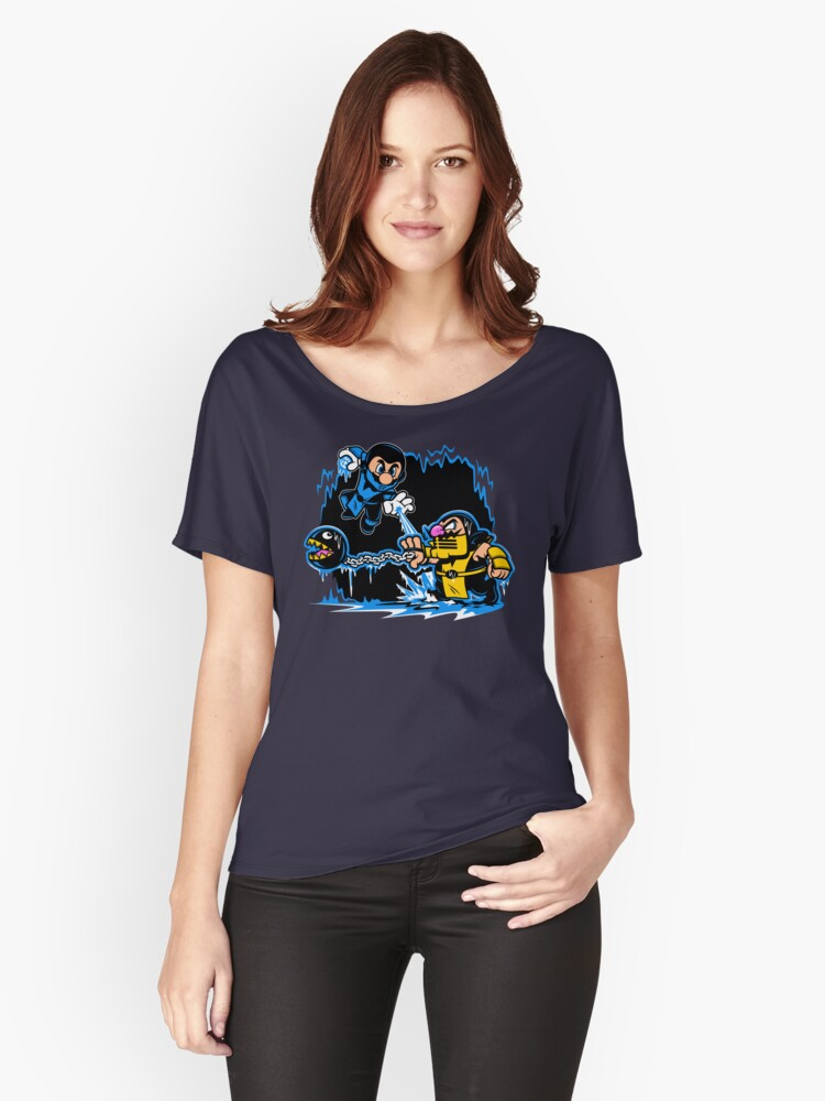 Mario Kombat Women's Relaxed Fit T-Shirt Front