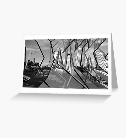 ANZAC Bridge Montage Greeting Card
