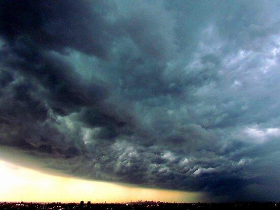 Summer Storm clouds over New York City  by Alberto  DeJesus
