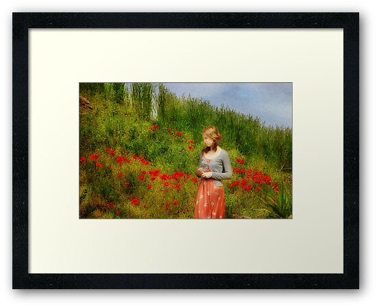 Girl in a Poppy Field by Peter Hammer