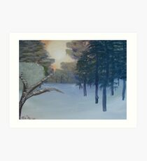 """Winter Scene 3""  by Carter L. Shepard Art Print"