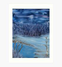 """Quiet Winter Night""  by Carter L. Shepard Art Print"