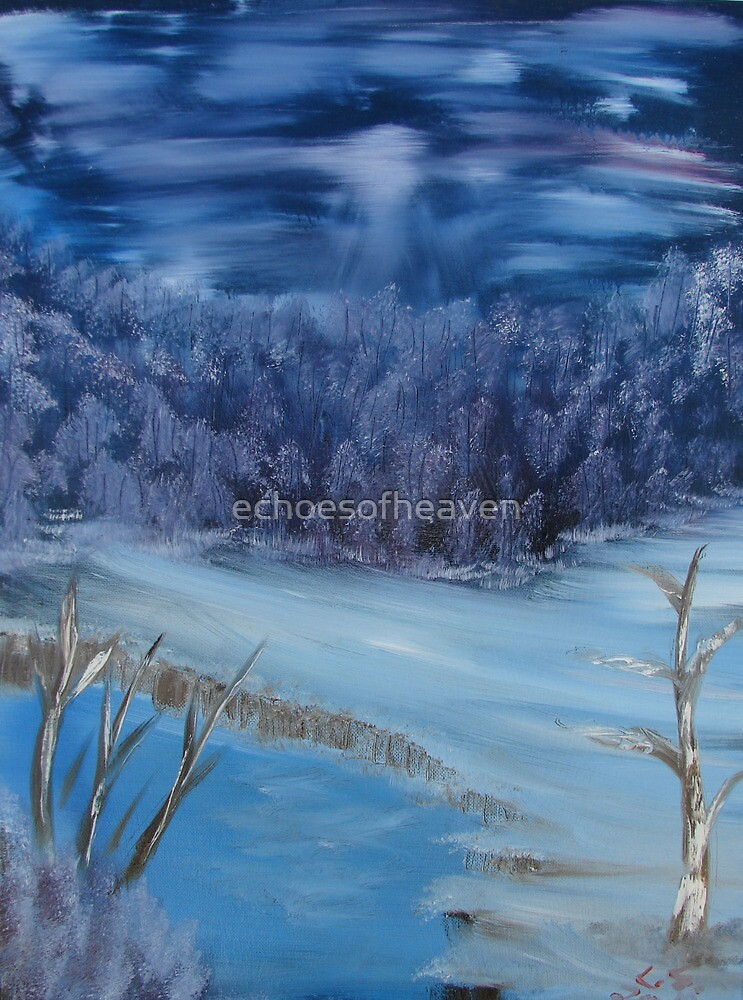 """Quiet Winter Night""  by Carter L. Shepard by echoesofheaven"