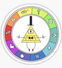Rainbow Bill Cipher Wheel Sticker