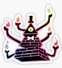 Six-Armed Apocalypse Bill Cipher - Color Sticker