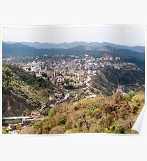 View of Katra township while on the pilgrimage to the Vaishno Devi Shrine in Kashmir in India Poster